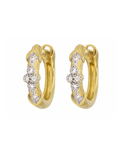Moroccan Marrakech Hoop Earrings with Diamonds