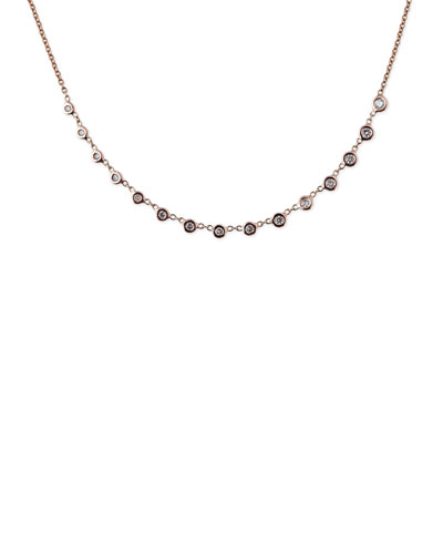 Jacquie Aiche EMILY GRADUATED DIAMOND NECKLACE IN 14K ROSE GOLD