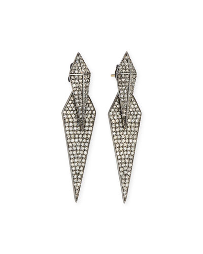 Double Diamond Dagger Earrings