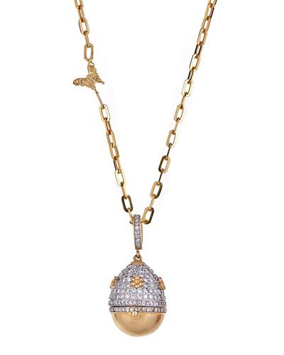 18K Royal Couture Diamond Egg Locket Necklace