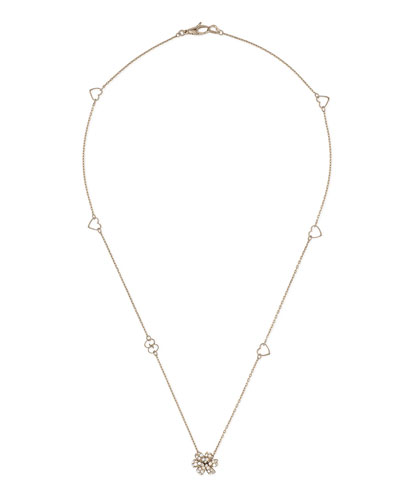 Flora Chain Necklace with Diamonds