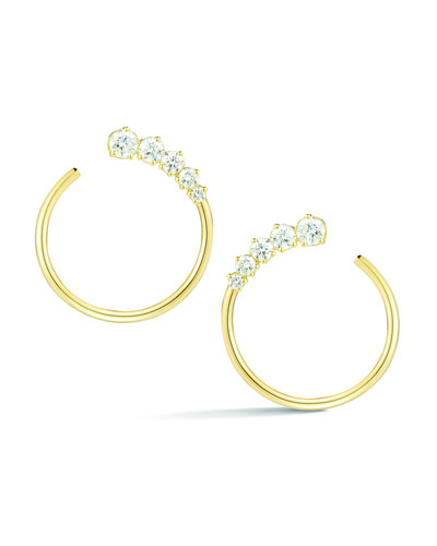 Prive Diamond Hoop Earrings in 18K Gold