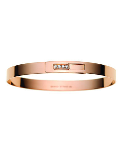 6mm Spring Cuff Bracelet with Inset Diamonds