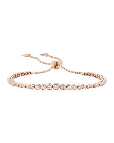 Prive Diamond Slider Bracelet in 18K Rose Gold