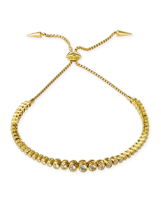 Prive Luxe Diamond Slider Bracelet in 18K Gold