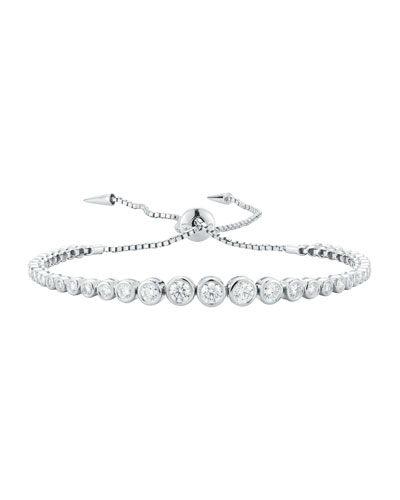 Prive Luxe Diamond Slider Bracelet in 18K White Gold