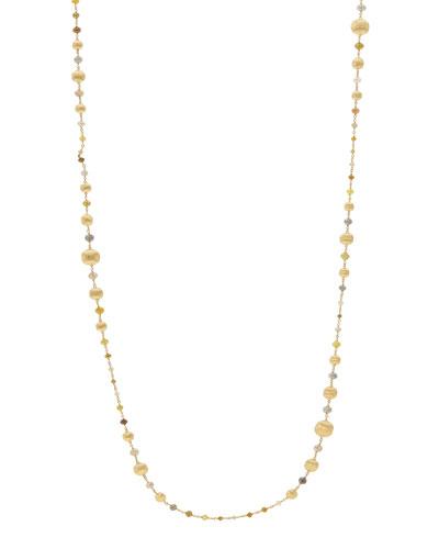 Unico Africa Beaded Necklace with Rough Diamonds, 36