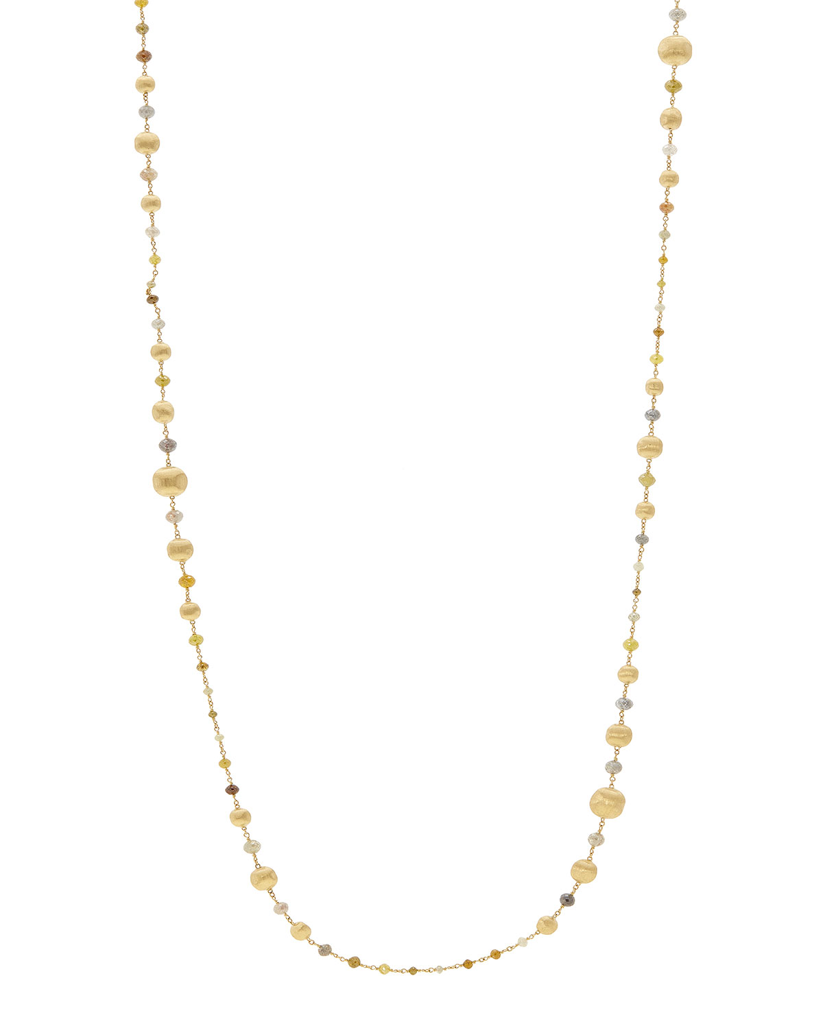 """Unico Africa Beaded Necklace With Rough Diamonds, 36"""" (33.64Ct)"""