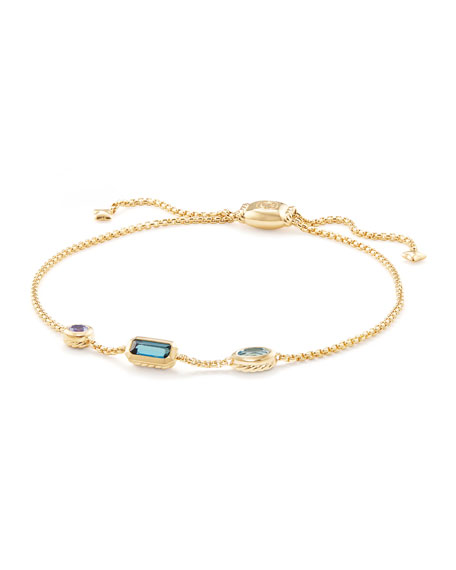 David Yurman Novella 18k Chain Bracelet, Multicolor