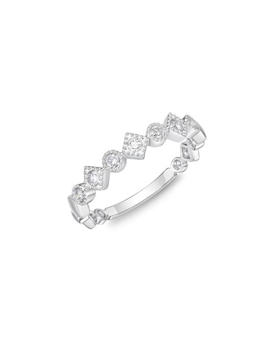 MEMOIRE STACK 'EM UP ALTERNATING BAND RING WITH DIAMONDS