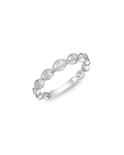 MEMOIRE STACK 'EM UP MARQUIS BAND RING WITH DIAMONDS