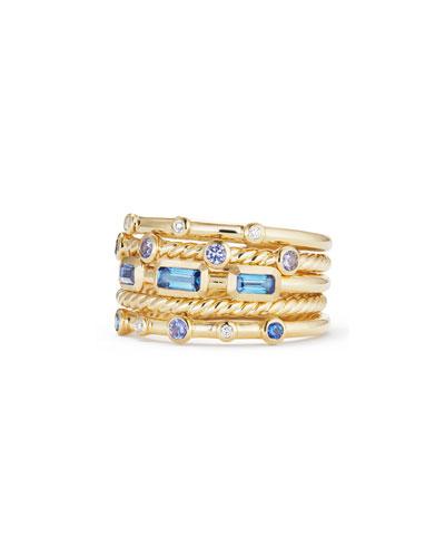 Novella 18k Multi-Stack Ring, Diamond/Sapphire