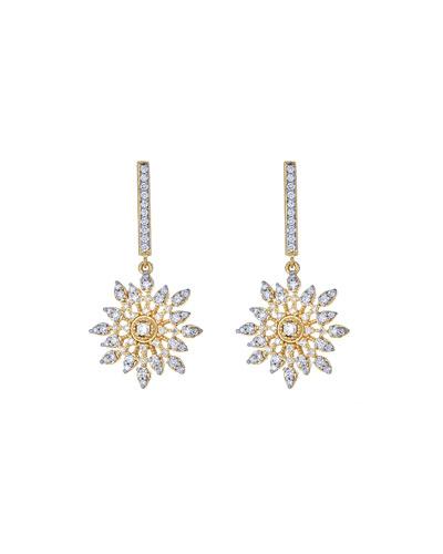 Celestial Diamond Drop Earrings