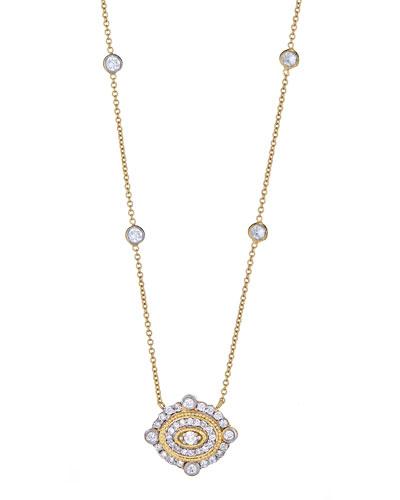 TANYA FARAH ART DECO DIAMOND PENDANT NECKLACE IN 18K GOLD