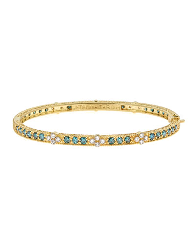 Modern Etruscan Bangle Bracelet