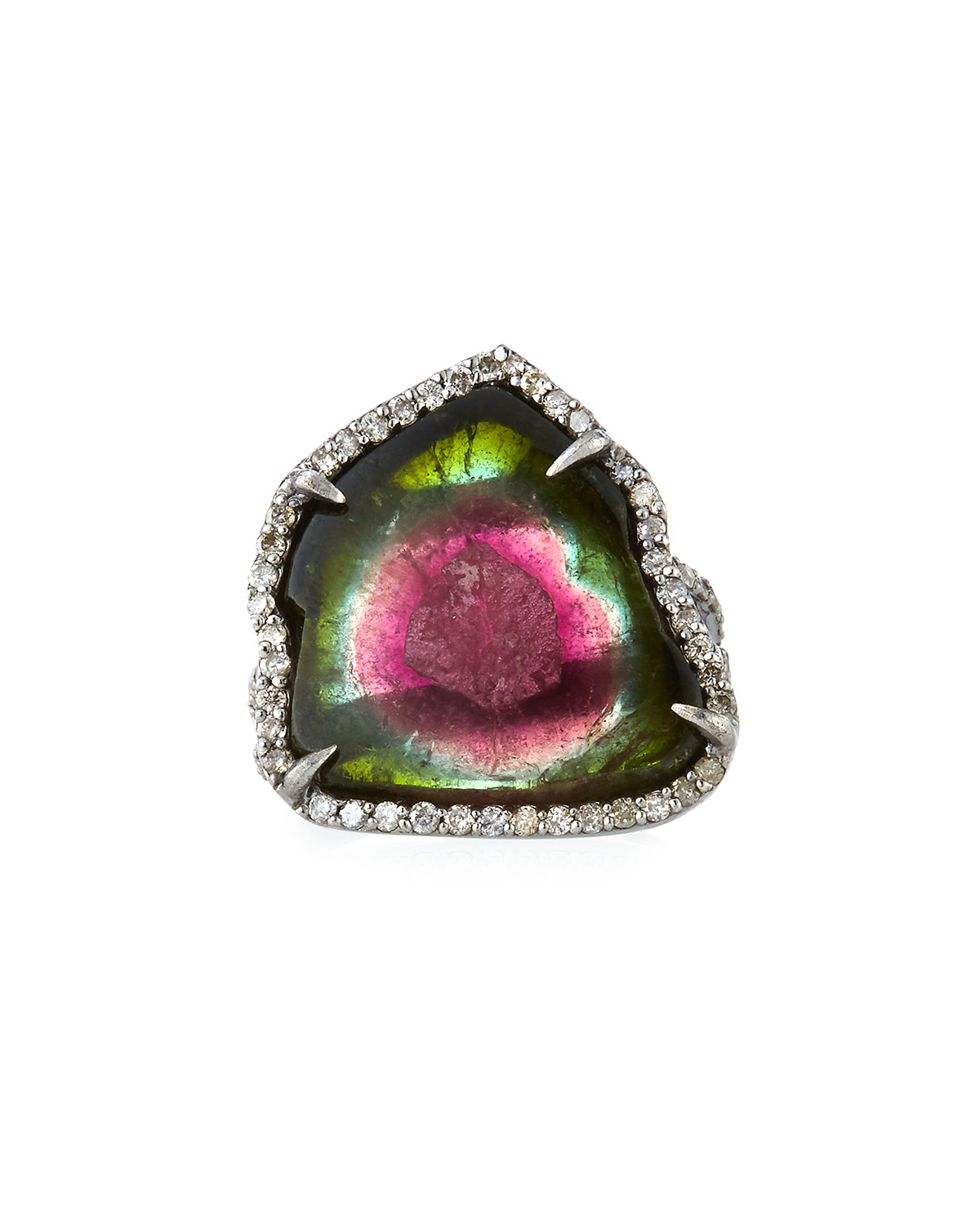 Watermelon Tourmaline Ring, Size 7.5