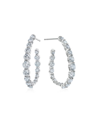 MARIA CANALE PEAR-SHAPED HOOP EARRINGS WITH DIAMONDS, 2.38 TDCW
