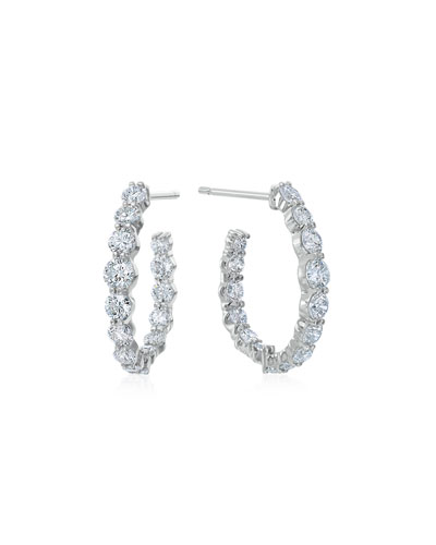 MARIA CANALE PEAR-SHAPED HOOP EARRINGS WITH DIAMONDS, 1.66 TDCW