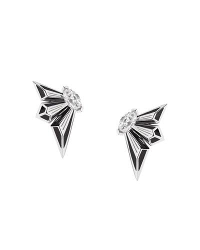 Fly by Deco Drive 18k Diamond Stud Earrings