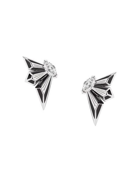 Stephen Webster Fly by Deco Drive 18k Diamond Stud Earrings