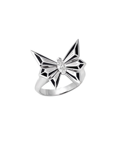 Fly by Deco Drive 18k Diamond Ring