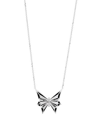 Fly by Deco Drive 18k Diamond Pendant Necklace