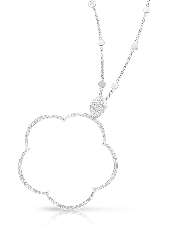 PASQUALE BRUNI Ton Jolie Diamond Floral Pendant Necklace In 18K White Gold