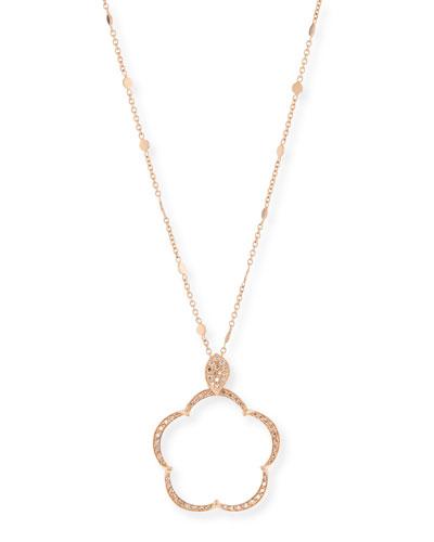 Ton Jolie Diamond Floral Pendant Necklace in 18k Rose Gold
