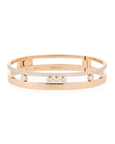 Move Romane Large Diamond Bangle, Rose Gold