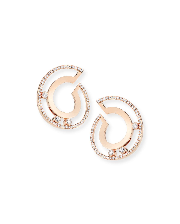 18K MOVE ROMAN SMALL DIAMOND HOOP EARRINGS