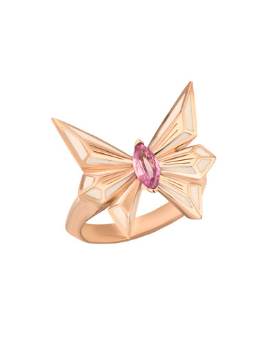 Fly by Deco Drive Marquis Pink Sapphire Ring, Size 8