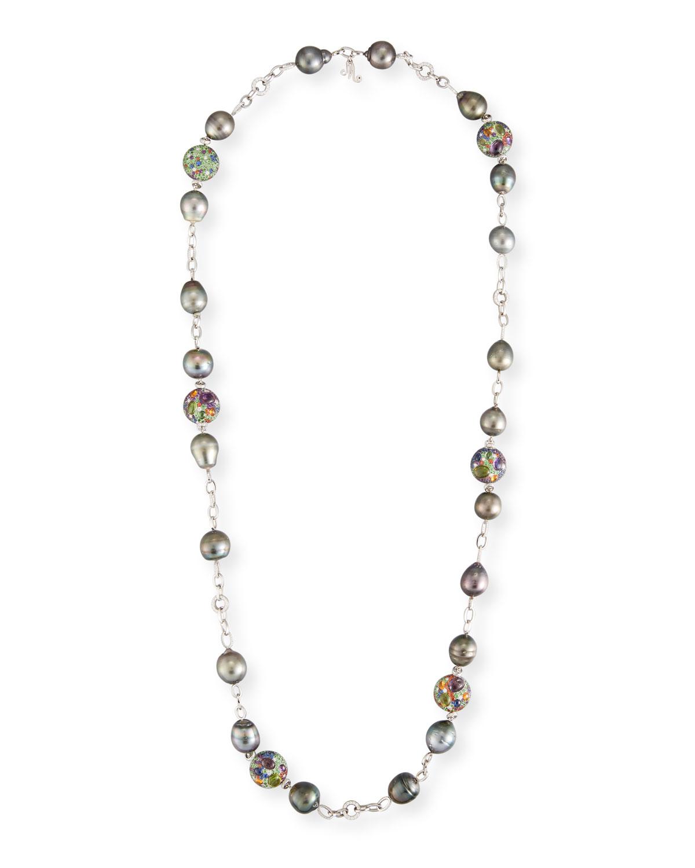 MARGOT MCKINNEY JEWELRY 18K Diamond Chain & Pearl Necklace