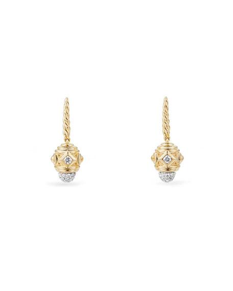 David Yurman Renaissance Small 18k Gold Diamond Drop Earrings
