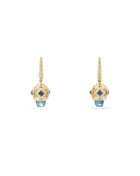 David Yurman 18k Renaissance Blue Topaz Drop Earrings