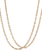 "18k Madison Thin Chain Link Necklace, 18""L"
