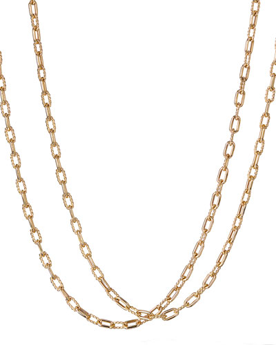 18k Madison Thin Chain Link Necklace, 18