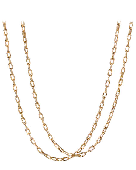 "David Yurman 18k Madison Thin Chain Link Necklace, 36""L"