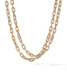 "18k Madison Bold Chain Link Necklace, 36""L"
