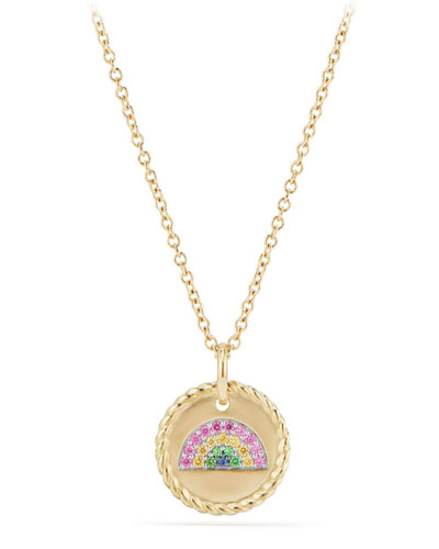 18k Cable Collectible Rainbow Necklace