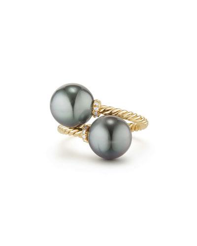 Belpearl Aura Tahitian Gray Pearl & Tanzanite Ring, Size 6.5