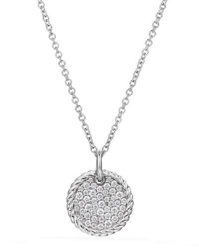 18k Cable Collectibles Diamond Plate Pendant Necklace