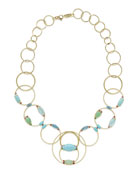 18k Prisma Multi-Circle Link Necklace in Portofino