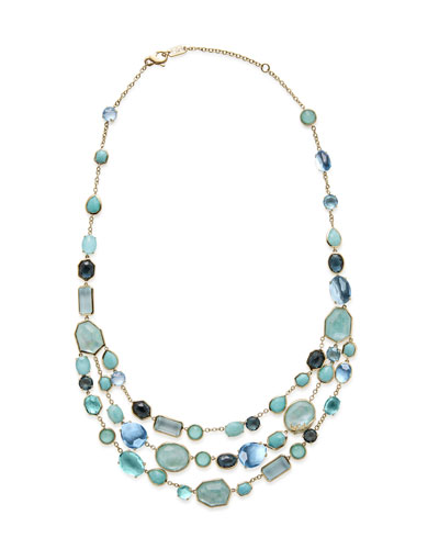 18k Rock Candy® Multi-Row Bib Necklace in Waterfall