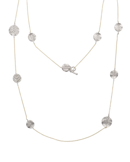 "Michael Aram Botanical Leaf Long Diamond Station Necklace, 36""L"