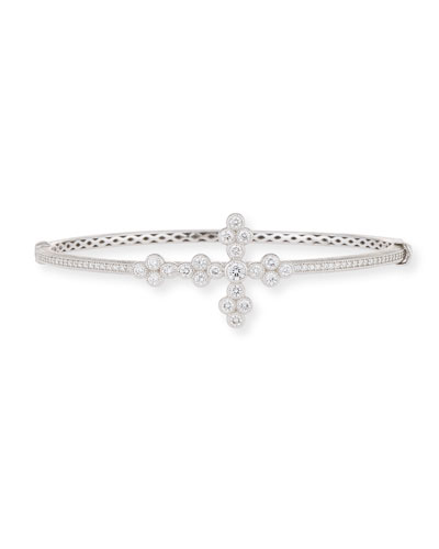 18k Provence Diamond Cross Bangle