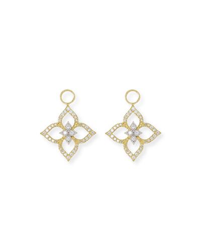 18k Moroccan Diamond Pavé Floral Earring Charms