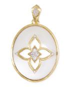 18k Moroccan Flower Pendant Necklace