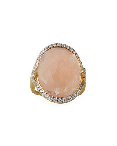 18k Provence Morganite Oval Ring