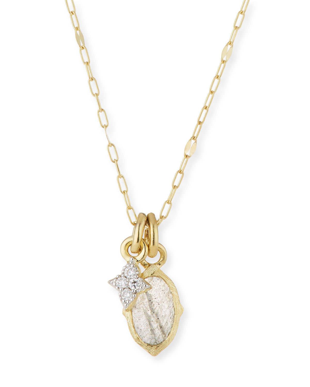 Jude Frances 18k Moroccan Diamond Quad Pendant Necklace HLeRmb2J