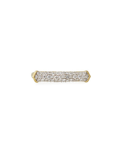 18k Moroccan Diamond Pavé Bar Ring